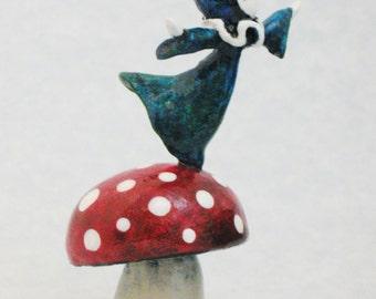 Poppet's Mushroom Poppet Sculpture