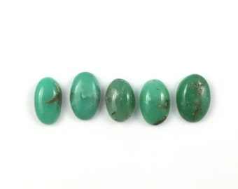Chrysoprase Semiprecious Stone Cabochons | Lot of 5 | Natural Green Chalcedony