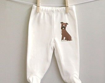 Baby pants, boxer footed baby pants, baby boy pants, baby girl pants, infant pants