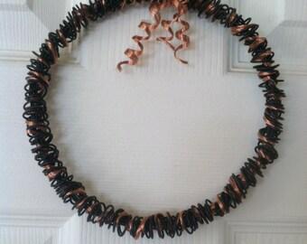 Wire and Copper Wreath