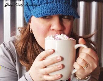 Lara Hat - Crochet Winter Hat - Crochet Cabled hat - Teen/Adult size