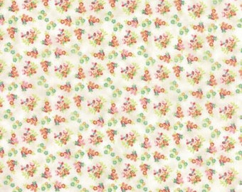 Basicgrey Fresh Cut for Moda - Floral Violet Garden - Natural - Coconut - 1/2 yard cotton quilt fabric 516