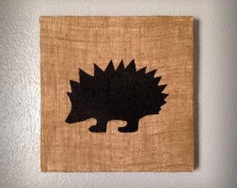 Hedgehog - Salvaged Material Wall Art