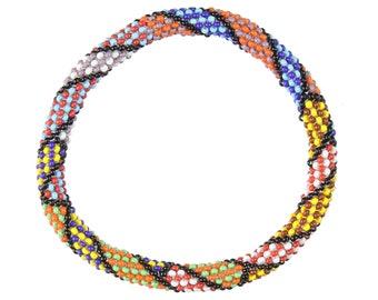 Colorful Patterned Beaded Bracelet