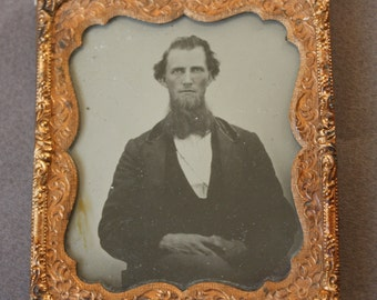 Antique Circa 1850s Ambrotype of Man