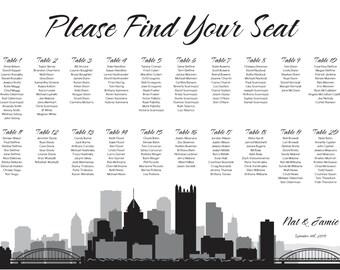Pittsburgh Seating Chart Digital Design Printable PDF Custom Personal Poster Print File ONLY Pennsylvania