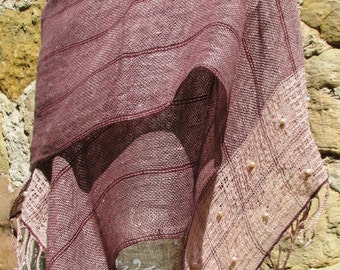 Handwoven Linen Flax Shawl- Birth of Venus collection- The Goddess and Sylphs