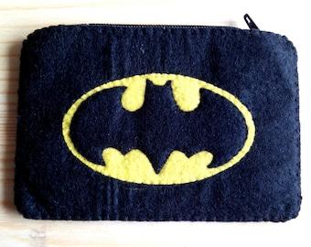 Batman felt coin purse