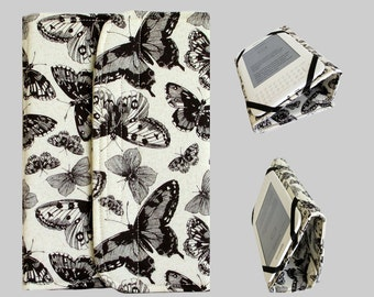 Standable Kindle Cover, Kindle Fire Case, Nook Cover, Kobo Case, Nexus 7 Cover, Kindle Fire HDX, iPad Mini, Dell Venue Butterfly Cream