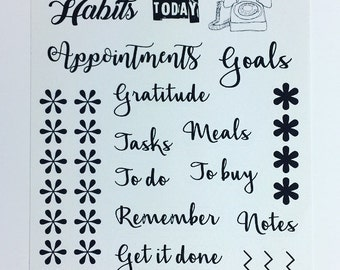 Journalling/planner stickers