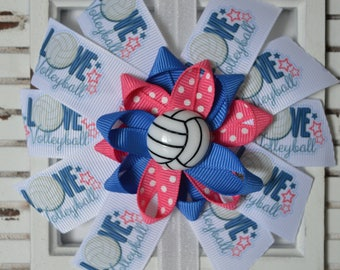 I LOVE VOLLEYBALL  Bow