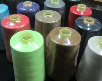 sewing thread on cones 100% polyester 40/2 many colors 5000 yard Select from catalog