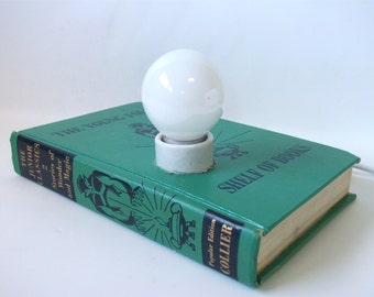 Vintage Desk Lamp, Stories of Wonder and Magic Shelf of Books, Lighting, Light, Table Lamp, Office Accessories