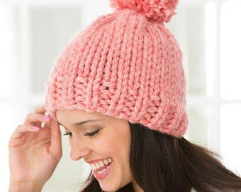 Super Chunky Alpaca & Wool Knitted Pom Pom Hat S M L XL sizes, choose your color