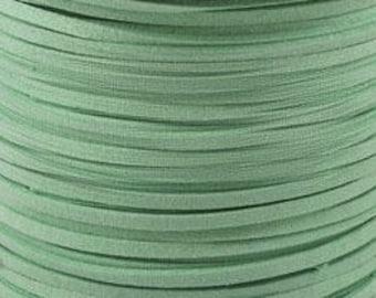 5yds Light Green Mint Suede Cord - 5mm wide Microfiber Faux Suede Cord -  W310