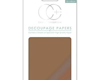 Paper patch (3 sheets), metallic copper - CCMDECP002