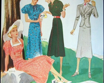 Vintage Print Ladies Fashion illustration As Young As April - 1930s - Great to Frame