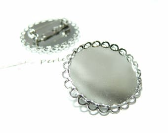 1 piece brooch double wave 20mm PP