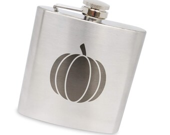 Pumpkin 6 Oz Flask, Stainless Steel Body, Handmade In Usa
