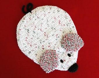 Mouse Potholder Crochet Pattern #310 - Christmas Mouse Crochet Pattern - Christmas Crochet Pattern - Instant Download PDF