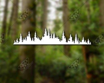 DECAL [Trees]Vinyl Decal, Bumper Sticker, Car Window Decal, Car Decal, Laptop Decal,Adventure Decal, Water Bottle Decal