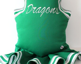 Cheerleading Uniform Pillow - With Skirt -  Custom -  Memory Pillow