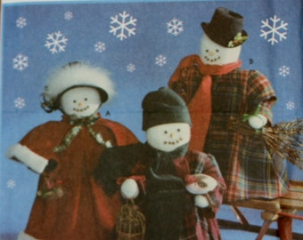 Simplicity 9265 Retired Vintage Snowman Doll and Clothes Sewing Pattern