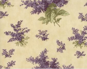 Lilac Ridge Cream Floral  Moda Quilt Fabric by the 1/2 yard