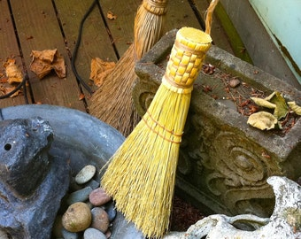 Whisk Broom in your choice of Natural, Black, Rust or Mixed Broomcorn - Hand Broom - Table Brush - Sweeper