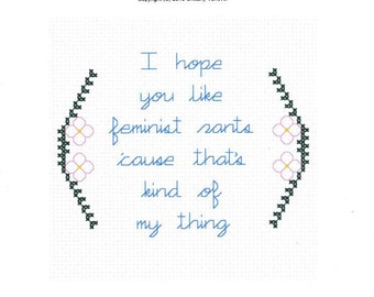 I Hope You Like Feminist Rants Cross Stitch Pattern, Feminist Cross Stitch, New Girl Jessica Day Quote, Modern Cross Stitch Pattern