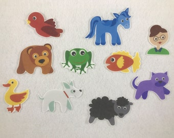 Brown Bear & Friends Felt Board Stories - Speech Therapy - Flannel Stories  - Gifts for Kids - Learn Colors - Stocking Stuffer