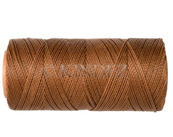Waxed Cord, Macrame Jewelry Cord, 15 meters/16 yards Waxed Thread Linhasita cor 666, Knotting String - Coffee