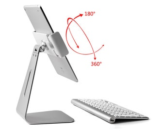 "Solid Folding Portable Metal Desk Mount Stand Holder-ipad,iPAD PRO,iPAD/MS Surface Pro/galaxy,any 9-13"" tablet"