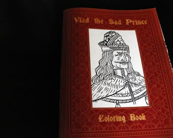 Vlad the Sad Prince, a Coloring Book for Adults