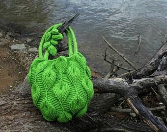 CROCHET PATTERN - New Embossed Crochet Technique: Embossed Leaves Purse