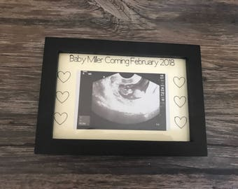 Sonogram Frame Ultrasound Frame Pregnancy Announcement Pregnancy Keepsake