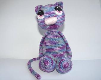 Cuddly plush amigurumi cat Max cotton
