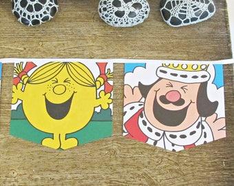 Little Miss Sunshine Birthday Bunting - Nursery Party Supplies Mr Men Little Miss - Decoration Decor Homewares For Girls Kids Bookworm Gift