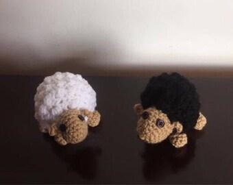 Mini sheep / crochet mini sheep / crochet  amigurumi sheep / miniature sheep/