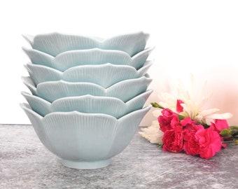 Light Blue Porcelain Lotus Bowls