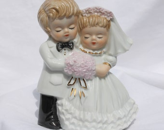 Vintage Porcelain Wedding Cake Topper