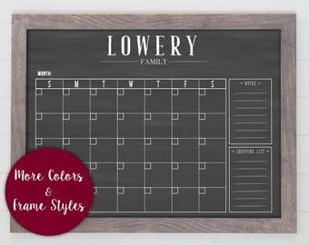 Family Calendar, Custom Calendar, Rustic Calendar , School Calendar #1835