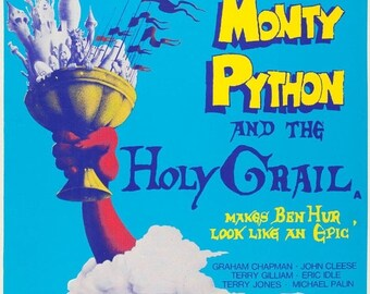 Spring Sales Event: Monty Python & The Holy Grail Movie POSTER Rare
