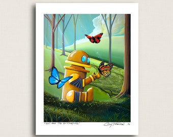 Bot and the Butterflies - the kindest robot you'll ever meet - Signed 8x10 Print (4/10)