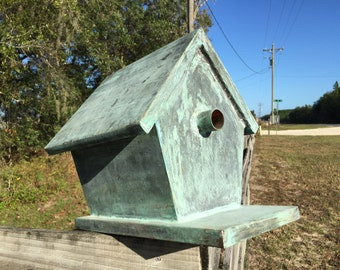 Vintage Copper Birdhouse with Great Patina