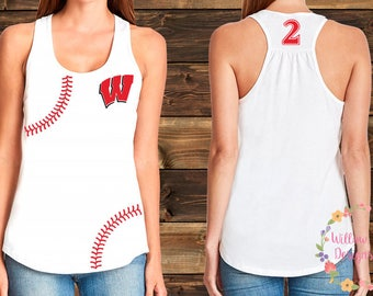 """Team Westshore Baseball Tank - """"W"""" with stitches"""