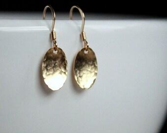 Gift Gold Filled Earrings Dainty earrings simple gold earrings gold oval earrings Gold Jewelry everyday earrings everyday jewelry dainty