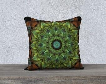 Green Orange Pillow Case 18 x 18
