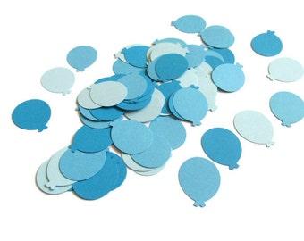 Blue Baby Boy Shower Confetti, Balloon Confetti, Blue Balloon Die Cuts, Balloon Cut Out, Birthday Party Confetti, Blue Table Scatter
