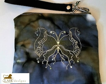 Fantasy Butterfly Wristlet with Detachable Handle